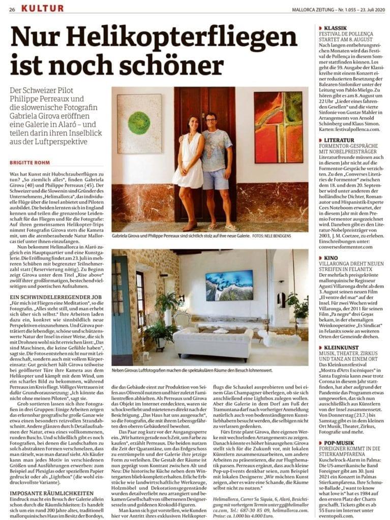 Mallorca Zeitung Kultur Sommer 2020